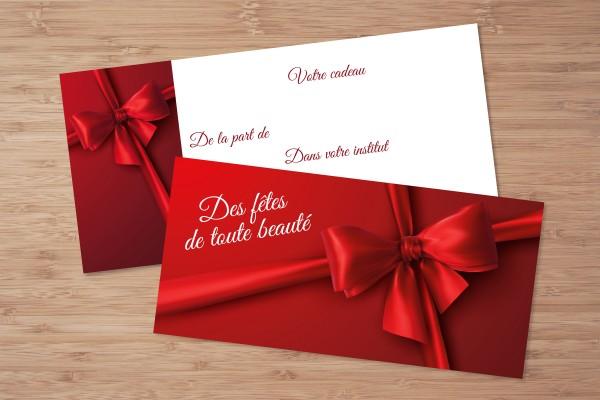 Création de chèques cadeaux personnalisés Noël