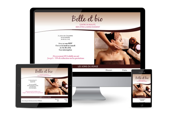 Création d'un site web vitrine (3 pages) + mises à jour mensuelles